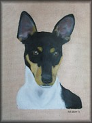 Terriers Pastels Framed Prints - Rat Terrier Framed Print by Vickie Sizemore