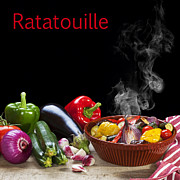 Hot Peppers Framed Prints - Ratatouille Concept Framed Print by Colin and Linda McKie