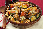 Tomatoes Prints - Ratatouille Pasta Bake Print by Colin and Linda McKie