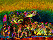 Desert Digital Art Prints - Rattlesnake 20130204p0 Print by Wingsdomain Art and Photography