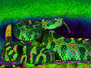 Desert Digital Art - Rattlesnake 20130204p75 by Wingsdomain Art and Photography