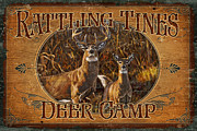 Whitetail Posters - Rattling Tines Poster by JQ Licensing