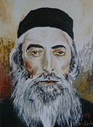 Rav Paintings - Rav Yaakov Yosef Herman by Miriam Shaw