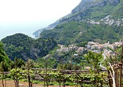 Vineyards Photo Originals - Ravello and Amalfi Coast by Marilyn Dunlap