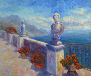Villa Paintings - Ravello View by Carolyn Jarvis