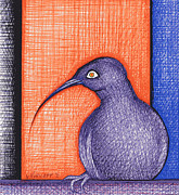 Raven Drawings Originals - Raven after Redon by Nina Kuriloff