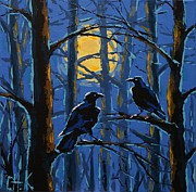 Christine Karron Metal Prints - Raven Forest Metal Print by Christine Karron
