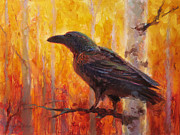 Karen Whitworth - Raven Glow Autumn Forest...