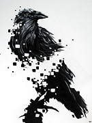 Surreal Paintings - Raven by Jeremy Scott
