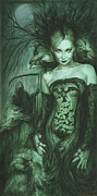 Luis Metal Prints - Raven Queen Metal Print by Luis  Navarro