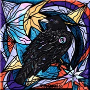 Vibration Framed Prints - Raven Framed Print by Teal Eye  Print Store