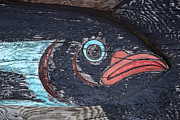 Inside Passage Prints - Raven Totem Figure Print by Carol Leigh