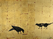 Gothic Crows Mixed Media Prints - Ravenous Print by Buddy Parrent