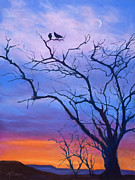 Crows Pastels - Ravens Chat by Marjie EakinPetty