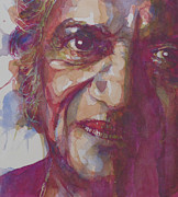 Watercolor Portrait. Prints - Ravi Shankar Print by Paul Lovering