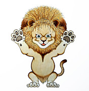 Cute Reliefs Framed Prints - Rawrrr Framed Print by Danny Jimenez
