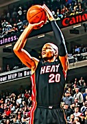 Dunk Photo Posters - Ray Allen Poster by Florian Rodarte