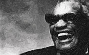 Ray Charles Prints - Ray Charles and That Smile Print by Tilly Williams