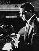 Ray Charles At The Piano Print by Underwood Archives