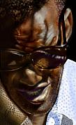 African American Male Paintings - Ray Charles-beyond sight 2 by Reggie Duffie