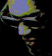 Music Digital Art Prints - Ray Charles Print by Byron Fli Walker