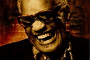 Rhythm And Blues Tapestries Textiles - Ray Charles by Jack Zulli
