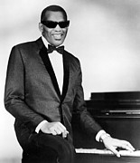 Piano Prints - Ray Charles Print by Sanely Great