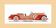Ray Dietrich Packard Victoria Roadster Concept Design Print by Jack Pumphrey