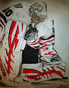 Goalie Drawings Originals - Ray Emery 1 by Tim Brandt
