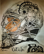 Hockey Drawings Originals - Ray Emery 2 by Tim Brandt