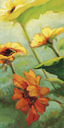 Floral Art Paintings - Ray of Hope by Jen Norton
