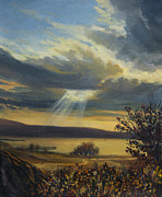 Beautiful Scenery Paintings - Ray of Light by Kiril Stanchev