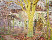 Fall Paintings - Ray of Sunlight by Emile Claus