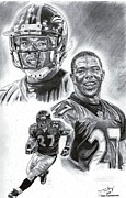 Pro Football Drawings Posters - Ray Rice Poster by Jonathan Tooley