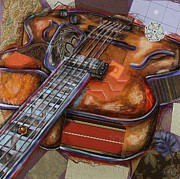 Music Mixed Media - Ray the Guitar by Katia Von Kral