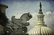 Us Congress Posters - Rayburn Gargoyle Poster by Terry Rowe
