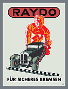 Vintage Typography Digital Art Metal Prints - Raydo Brakes Metal Print by Gary Grayson