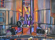 Napa Valley And Vineyards Painting Metal Prints - Raymond Vineyards Crystal Cellar II Metal Print by Donna Tuten