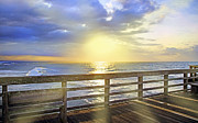 Coastal Scene Posters - Rays of Hope Poster by East Coast Barrier Islands Betsy A Cutler
