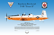 Air Wing Graphics Prints - Raytheon Beechcraft T-6B Texan II Print by Arthur Eggers
