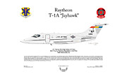 Air Wing Graphics Prints - Raytheon T-1A Jayhawk Print by Arthur Eggers