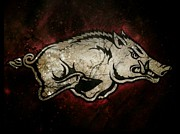 Razorbacks Paintings - Razorback Bliss by Russten Johnson