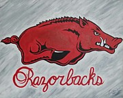 Razorbacks Prints - Razorbacks Forever Print by Russten Johnson