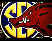Southeastern Conference Posters - razorbacks SEC Poster by Russten Johnson