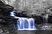 Unique Waterfalls Framed Prints - RB Ricketts Framed Print by Robert Harmon