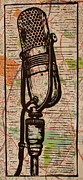 Lino Metal Prints - RCA 77 on Austin Map Metal Print by William Cauthern