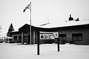 Sask Prints - rcmp royal canadian mounted police station in the small town of Kamsack Saskatchewan Canada Print by Joe Fox