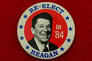 Election Posters - Re-Elect Reagan Poster by Paul Ward