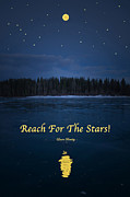 Starry Digital Art Framed Prints - Reach For The Stars Framed Print by Laura Bentley
