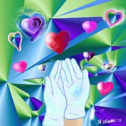 Gloves Digital Art - Reach In Reach Out to Love by Amy Scholten